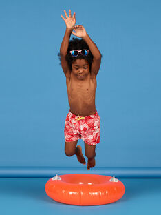 Red bathing shorts boy boy LYOMERBOXJUN / 21SI02D9MAI050