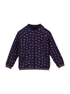 Girls' reversible zipped jacket FACOVEST2 / 19S901X2VES099