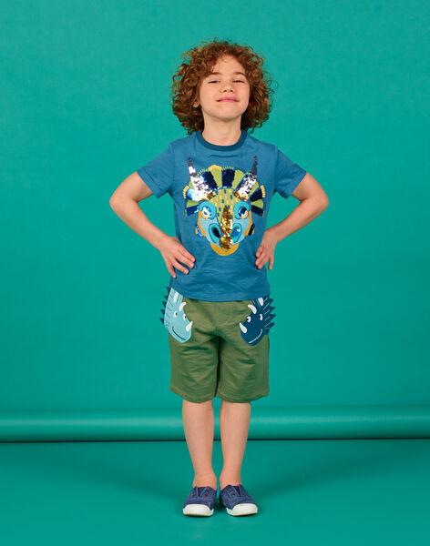 Boy's khaki shorts LOVERBER3 / 21S902Q3BERG631