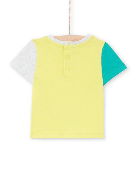 Baby boy yellow t-shirt LUVITI3 / 21SG10U1TMCB115