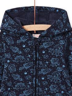 Blue black space print vest baby boy MUPLAGIL / 21WG10O1GILC243