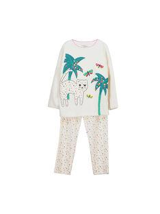Girls' velour pyjamas FEFAPYJCAT / 19SH1141PYJ001
