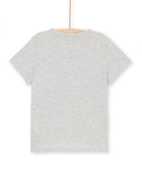 Grey and yellow T-shirt - Child boy LONAUTI3 / 21S902P1TMCJ922