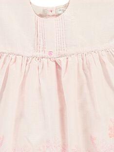 Baby girls' short-sleeved dress CCFROBE1 / 18SF03B1ROB301