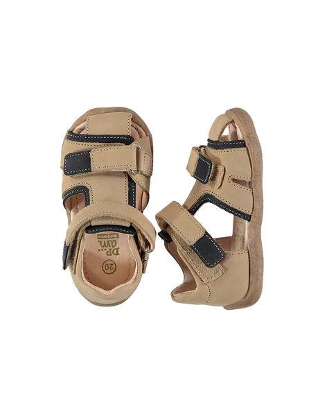 Baby boys' smart leather sandals FBGSANDHER / 19SK38C3D0E080
