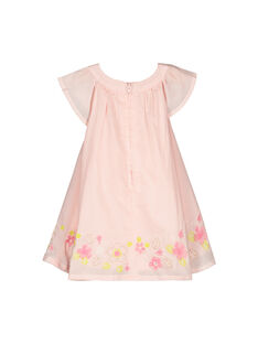Baby girls' smocked dress FIPOROB1 / 19SG09C1ROB307