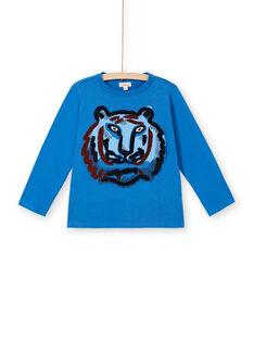 Blue cotton t-shirt boy boy LOBLETEE2 / 21S902J3TML702