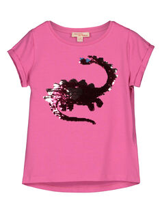 Girls' reversible sequin T-shirt GABLETI1 / 19W90191TMCD305