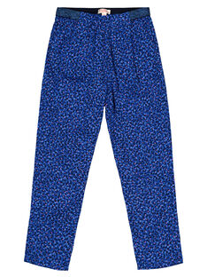 Girls' blue floral print trousers GABLEPANT / 19W90191PANC226