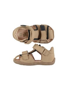 Baby boys' smart leather sandals FBGSANDHER / 19SK38C3D0E080