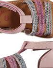 Baby girls' smart leather sandals FBFSANDISA / 19SK37K2D0E030