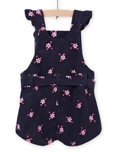 Baby girl's corduroy floral print overalls MIPLASAC / 21WG09O1SALC202