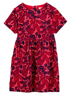 robe imprimée en velours mille raies GATRIROB1 / 19W901J4ROBF512