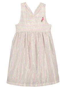Girls' iridescent dress FACUROB3 / 19S901N3ROB000