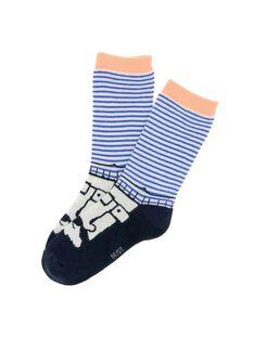 Boys' mid length socks CYOKLECHO / 18SI02D1SOQ720