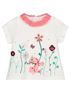 Baby girls' ruffled collar T-shirt GIVEBRA / 19WG0921BRA001