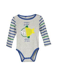 Baby boys' long-sleeved bodysuit FEGABODPOI / 19SH1454BDLJ906