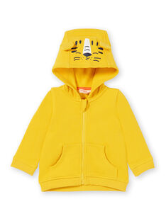 Baby boy yellow cotton hoody LUJOGIL1 / 21SG1032GIL106