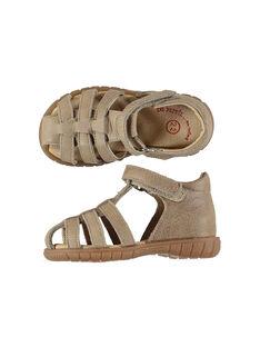 Baby boys' smart leather sandals. FBGSANDFET / 19SK38C2D0E080