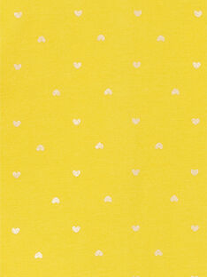 Yellow and gold vest with baby girl hearts print LIJOCAR2 / 21SG0943CAR106