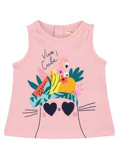 Baby girls' printed vest FICUDEB / 19SG09N1DEBD303