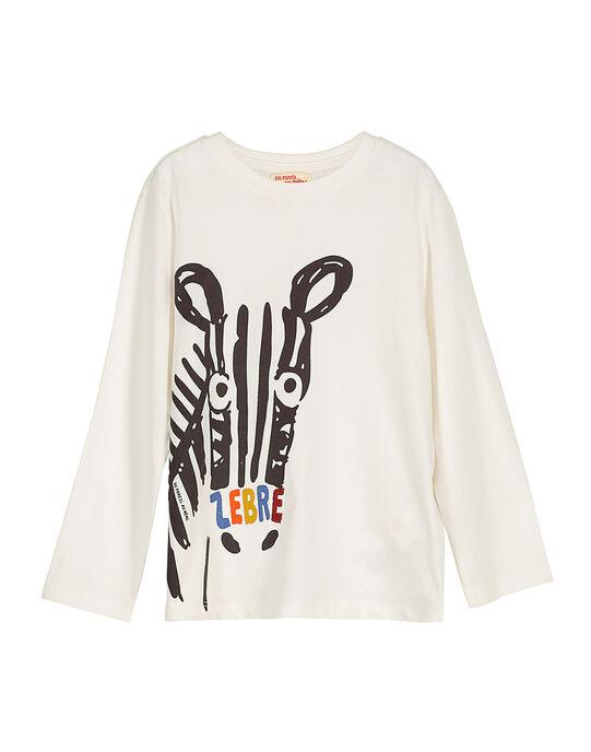 Boys' fancy long-sleeved T-shirt FOBATEE2 / 19S90262TML001