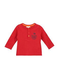 Baby boys' grandad collar T-shirt FUJOTUN3 / 19SG1033TMLF505