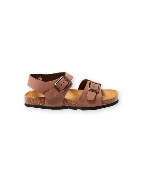 Brown sandals for boys LGNUMARRON / 21KK3657D0E802