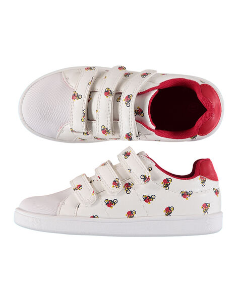 Boys' smart printed trainers FGBASMOTO / 19SK3634D3F000