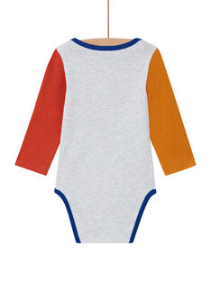 Baby boy's multicolored toucan bodysuit MEGABODTOU / 21WH14C3BDLJ920