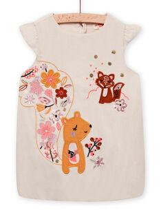 Baby girl velvet ball dress with milleraies MISAUROB1 / 21WG09P1ROB007