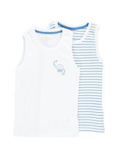 Pack of boys' vests CEGODELBLA / 18SH12V1HLI000