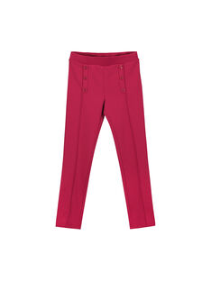 Girls' pink Milano knit trousers FAJOPANT2 / 19S90131D2B304