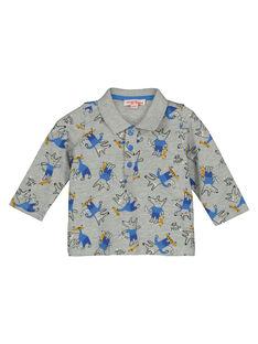 Baby boys' printed long sleeved polo shirt GUBLEPOL / 19WG1091POLJ908