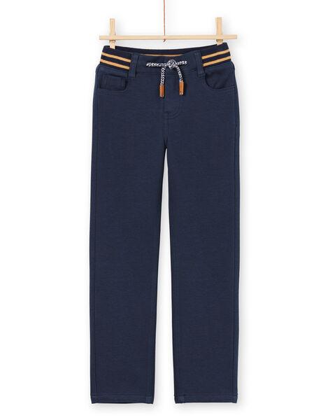 Boy's midnight blue pants MOMIXPAN / 21W902J1PAN717