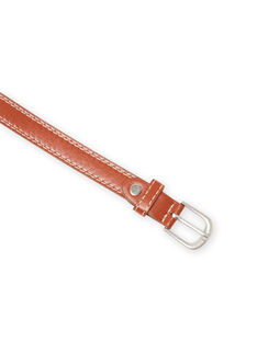 Boy's caramel belt with visible seams MYOESBELT2 / 21WI02E1CEI420