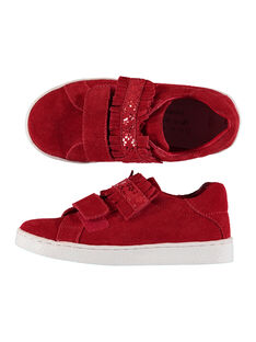 Girls? smart split leather trainers FFBASRED / 19SK3535D3F050