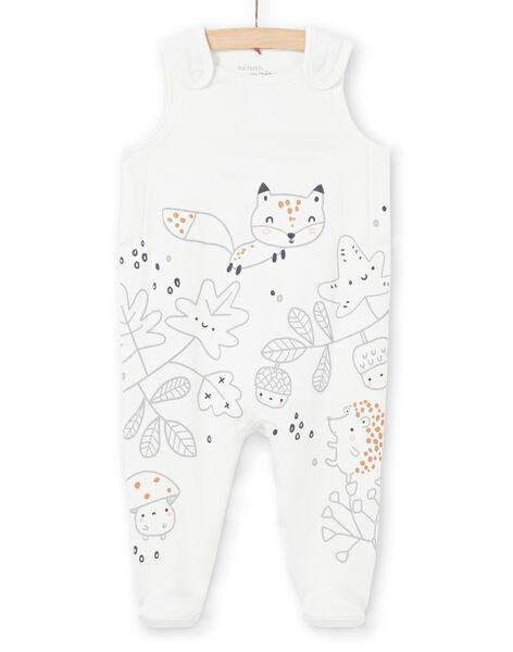 Grey and ecru jacket and sleep suit, fantasy print, mixed birth MOU1ENS1 / 21WF0542ENS001