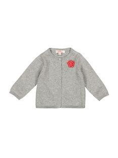 Baby girls' grey cardigan FIJOCAR4 / 19SG0934CAR943