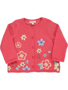 Baby girls' cotton cardigan CIBUCAR2 / 18SG09K2CARF515