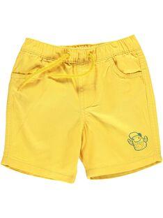 Baby boys' yellow shorts CUJOBER7 / 18SG10S1BER106
