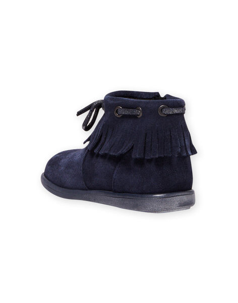 Baby girl navy blue boots with bangs MIBOOTINDI / 21XK3771D0D070