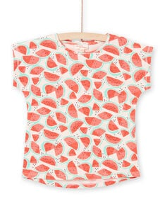 Girl's pink and red watermelon T-shirt LAJOTI6 / 21S901FAD31D322