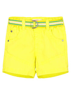 Baby boys' yellow shorts FUCABER1 / 19SG10D1BER117