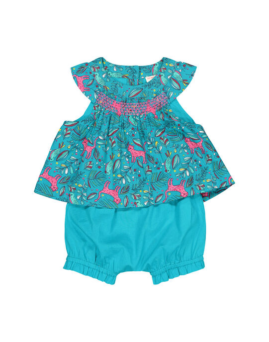 Baby girls' dress and bloomer set FITUENS / 19SG09F1ENS202