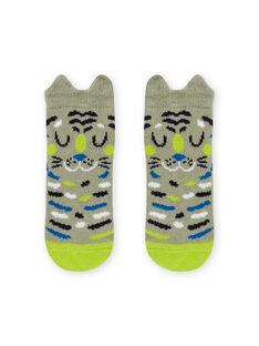 Baby boy animal print socks MYUKACHO / 21WI10I1SOQG622