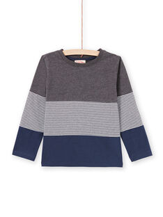 Boy's Navy & Grey T-Shirt MOJOTIDEC3 / 21W90222TML944