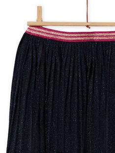 Navy blue flared skirt with sequins child girl MATUJUP2 / 21W901K2JUP070