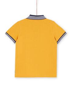 Yellow and navy blue polo shirt - Child boy LOJAUPOL / 21S902O1POL107