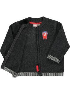 Baby boys' zipped cardigan DUJOGIL1 / 18WG1031GIL944